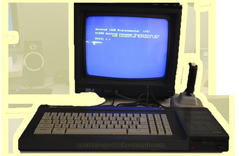 Cpc 6128 amstrad fond transpa